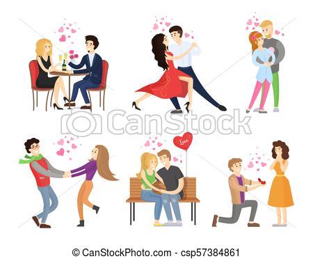 Boyfriend Girlfriend Rest Restaurant Dance Tango.