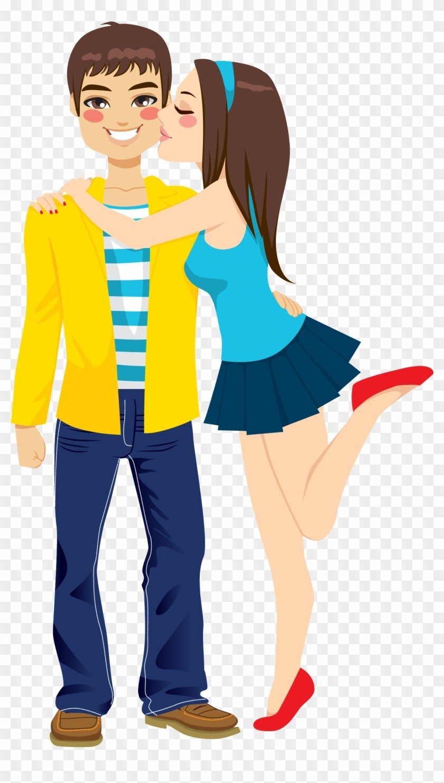 240 2402782 Girlfriend Boyfriend Kiss Romance Clip Art Hugging.
