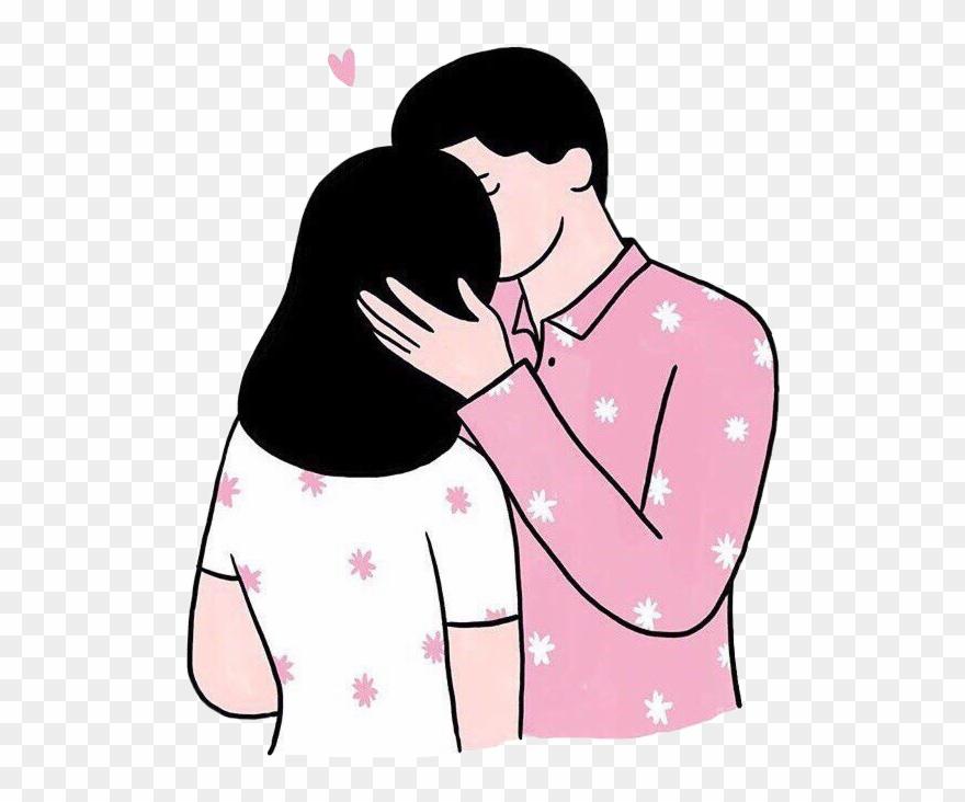 Clip Art Girlfriend Boyfriend Kiss.