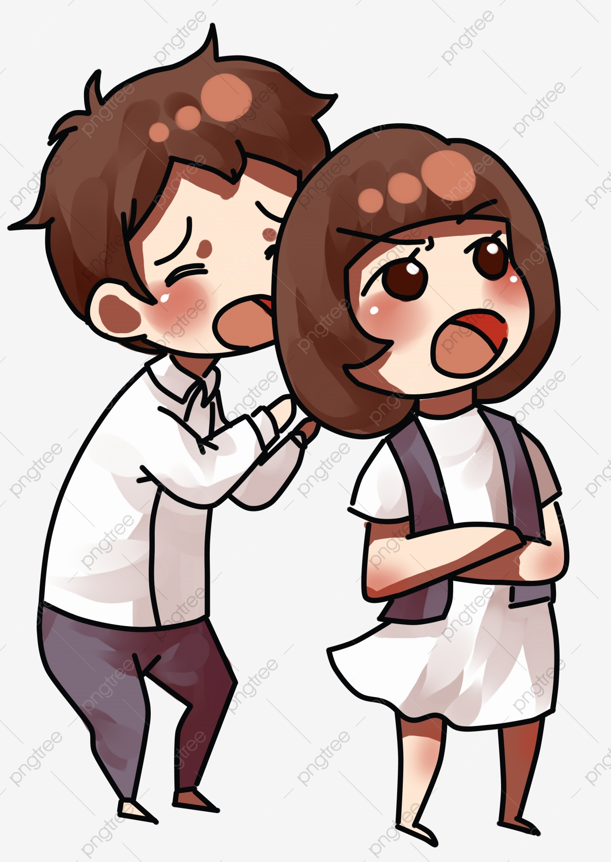 Valentines Day Couples Are Awkward Couple Arguing Everyday Quarrel.