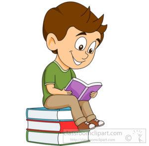 student sitting on stack books reading clipart St. Joseph's B.N.S..