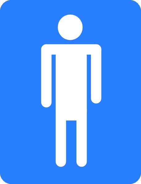 Boys Bathroom Sign Clipart.