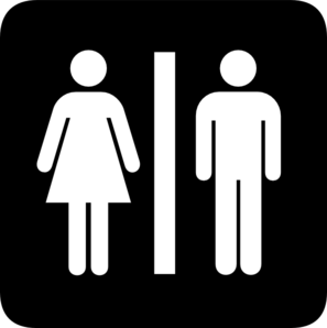 Male And Female Bathroom Sign Clip Art at Clker.com.