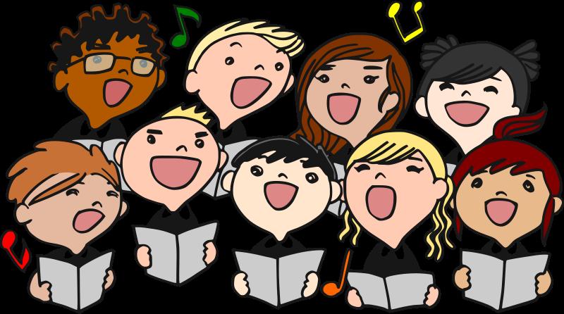 Black Choir Clipart.