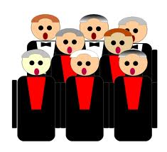 Male Choir Clipart.