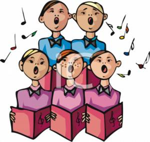 Clipart Picture of a Boys Choir.