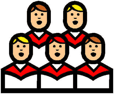 Clipart christmas choir.
