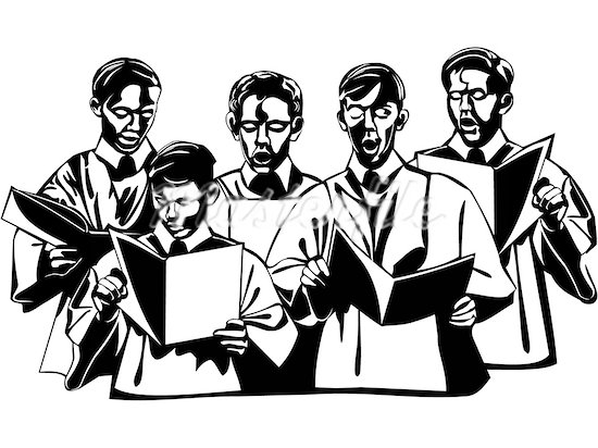 Men Choir Singing Clipart.