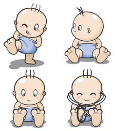 Pebbles and Bam Bam Cartoon.