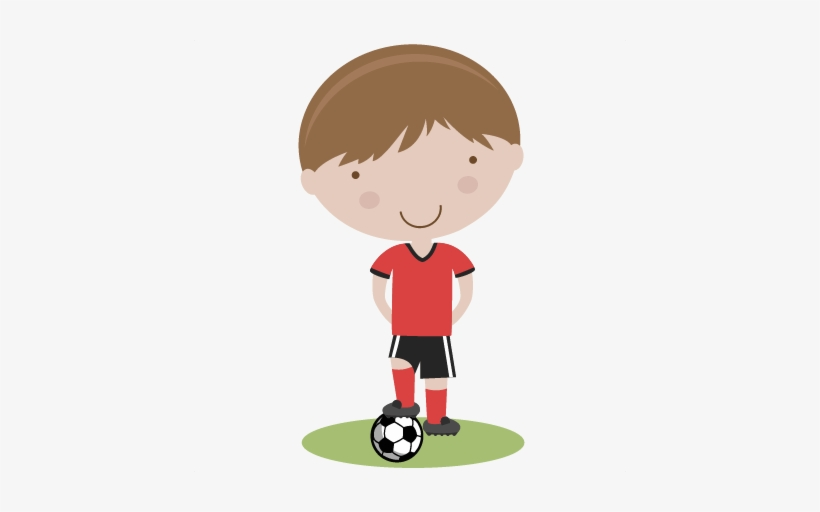 Graphic Freeuse Stock Boy Playing Soccer Clipart.