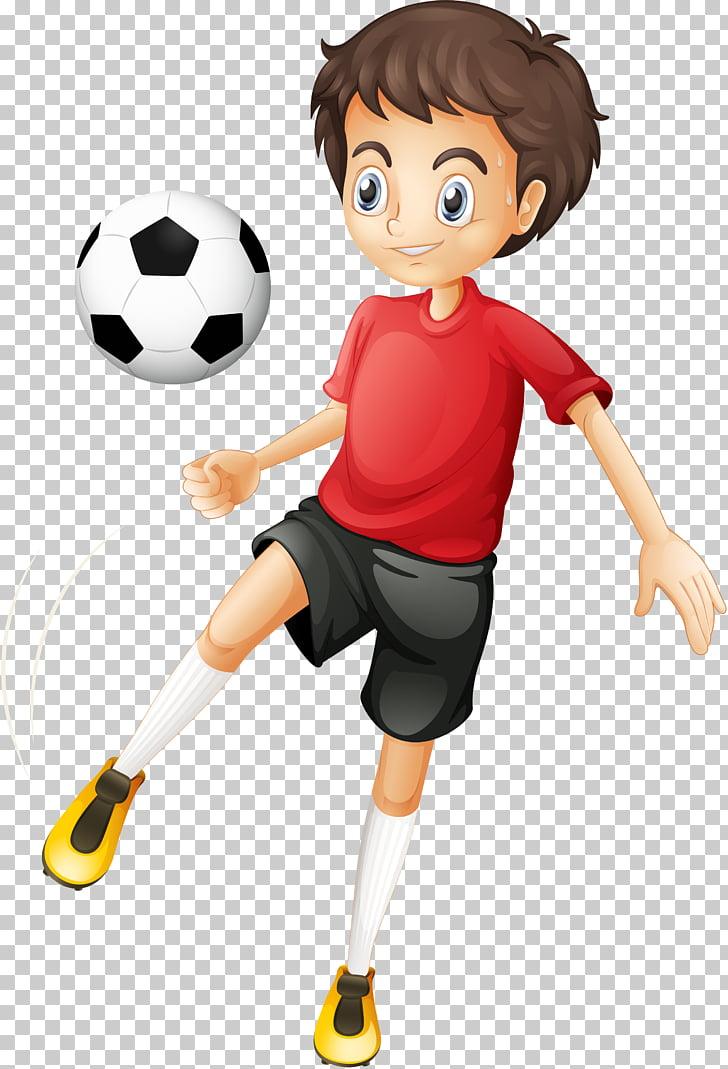 Football player Cartoon , children playing, brown.