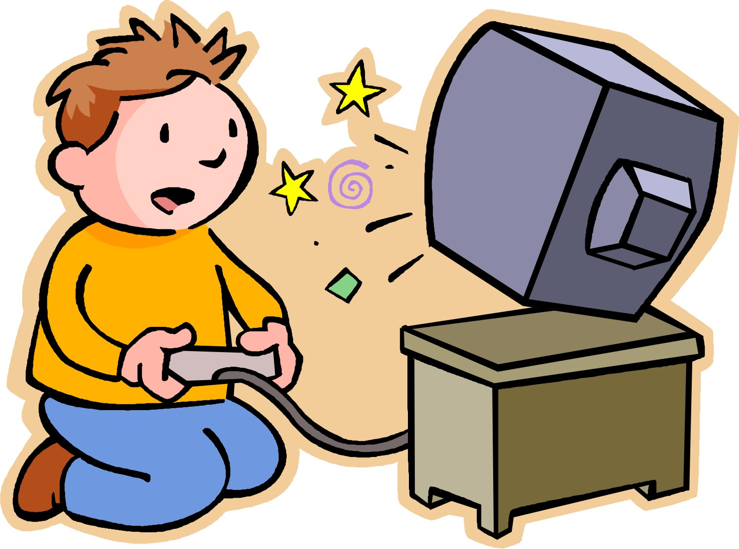 Someone Playing Video Games Clipart.