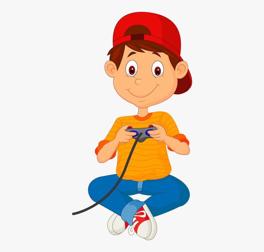 Playing Video Games Png.