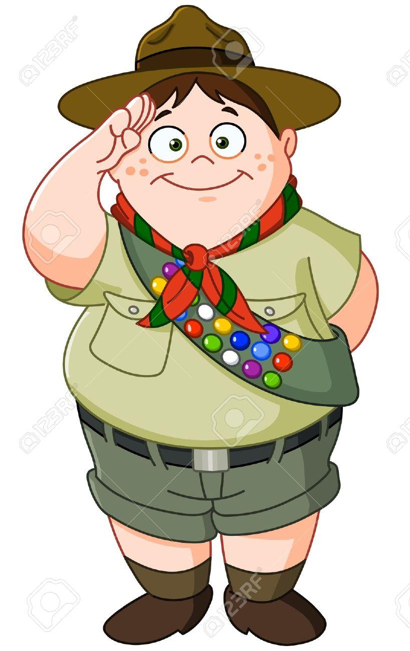 Boy scout salute clipart.