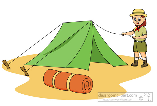 Boy Scout Camping Clipart.