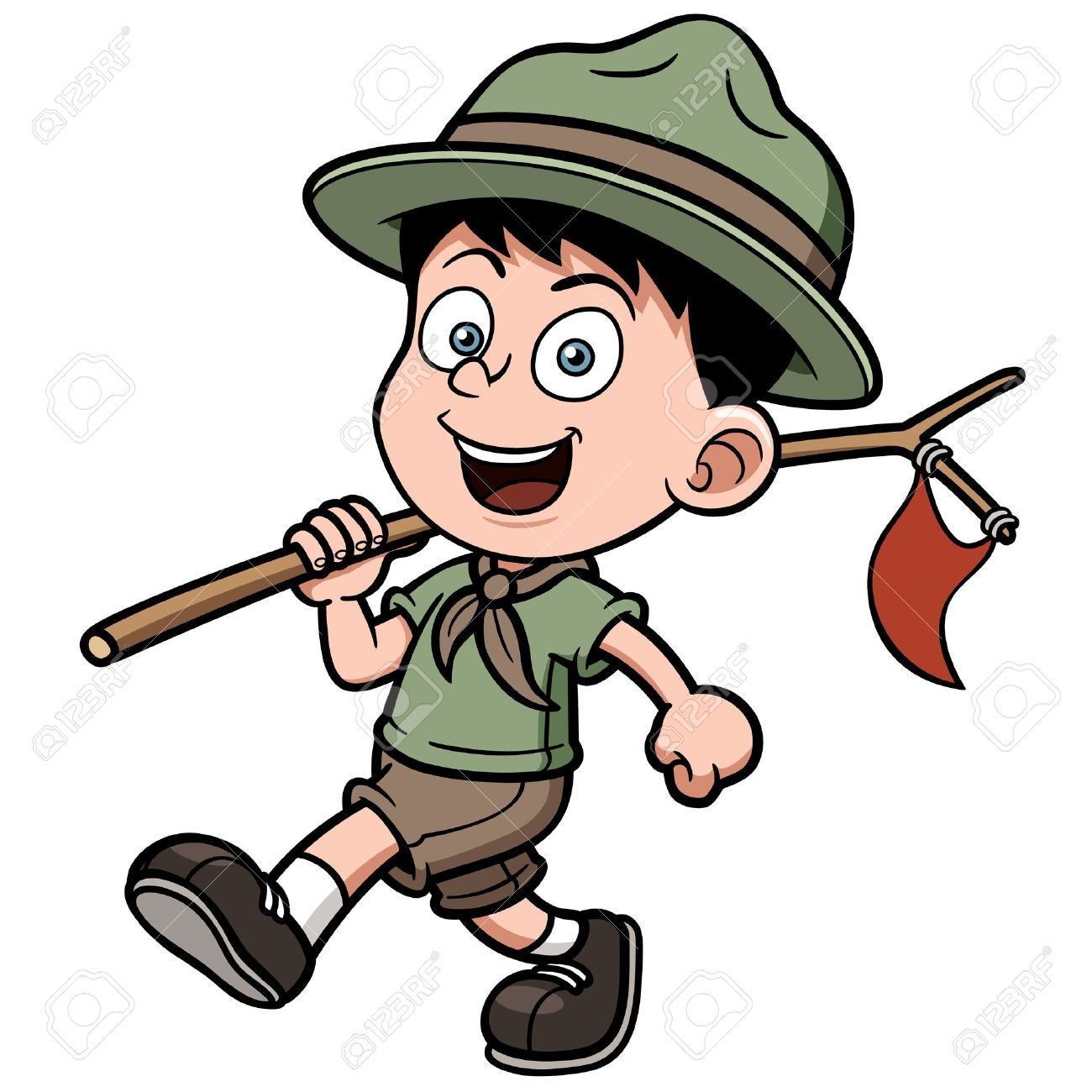 Boy scout clipart licensed.