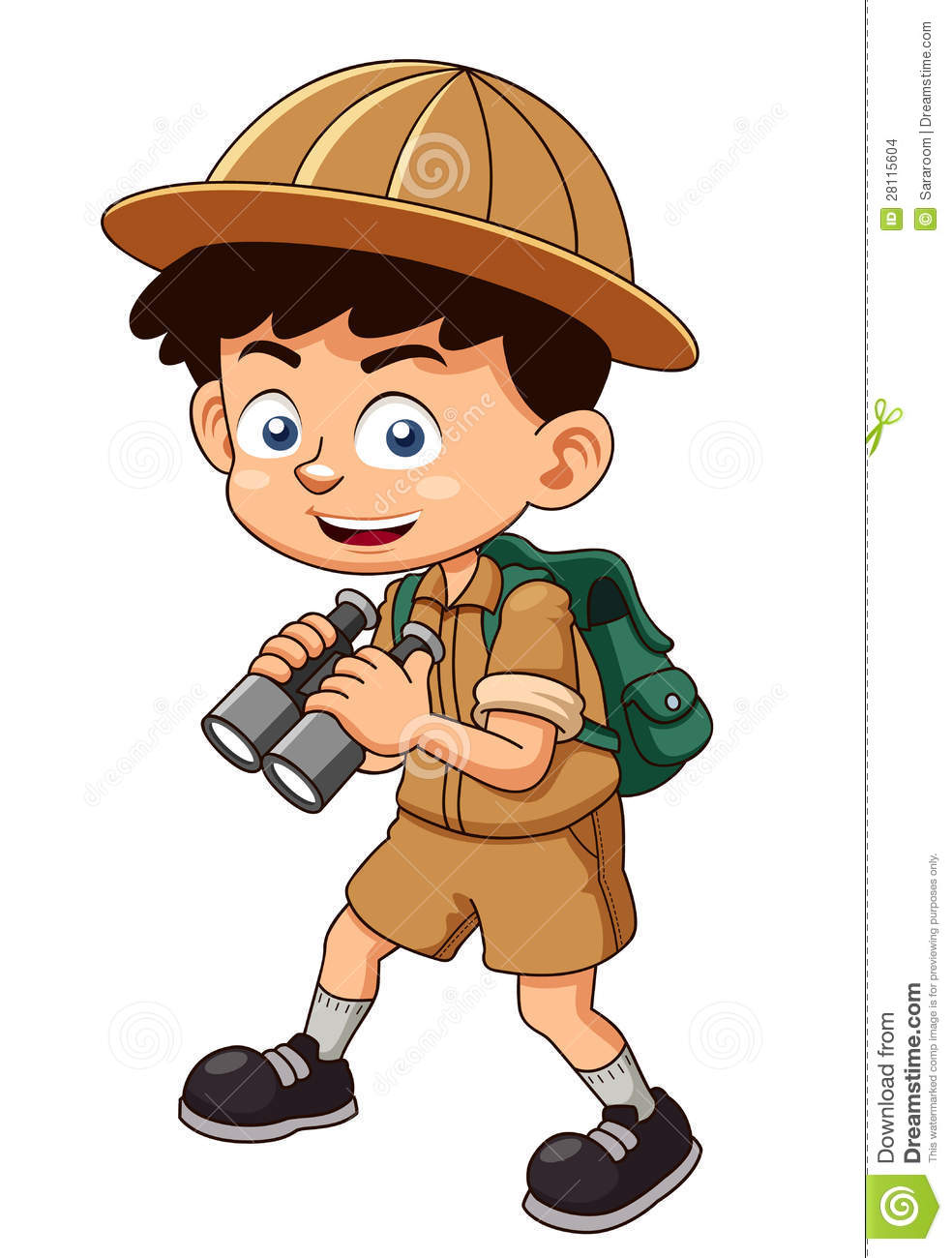 Cartoon boy scout clipart.