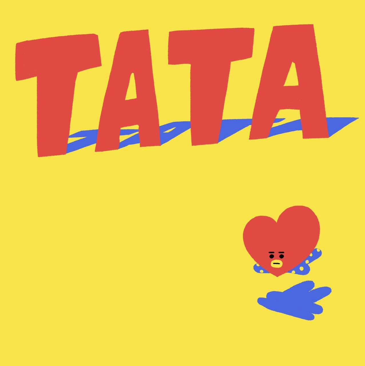 Tata created by Taehyung~ ❤ BTS LINE STICKERS!!! Free.