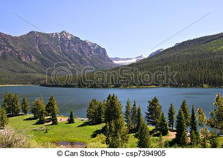 Stock Images of Highlite Lake at Gallatin National Forest, Bozeman.