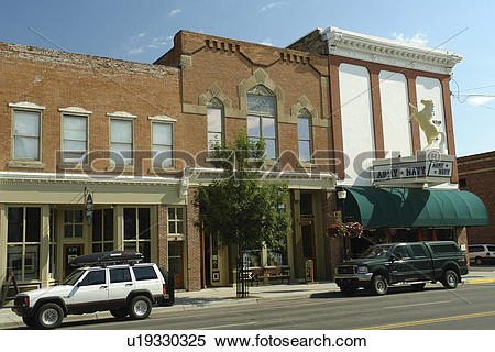 Stock Image of Bozeman, MT, Montana, downtown u19330325.