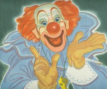 Bozo the Clown Clip Art.