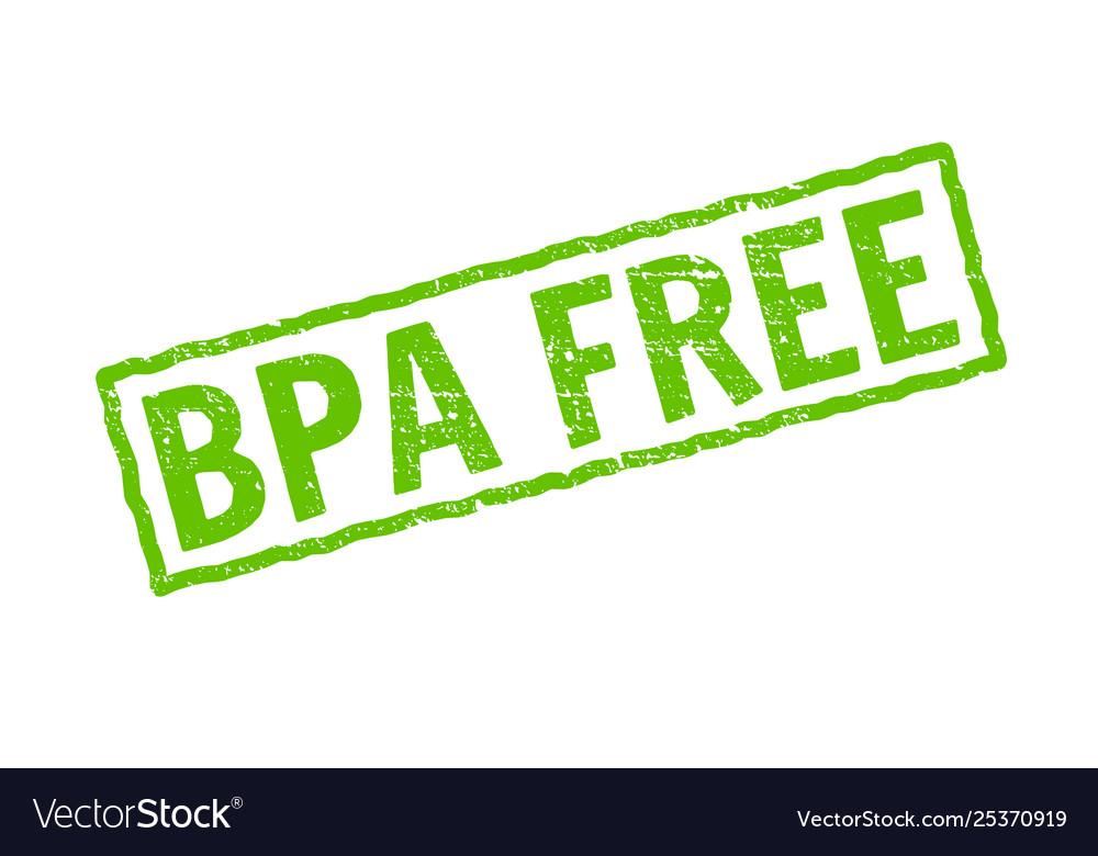 Bpa free icon plastic free logo stamp.