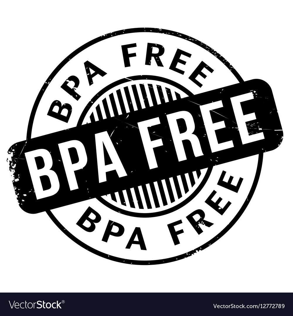 Bpa Free rubber stamp.