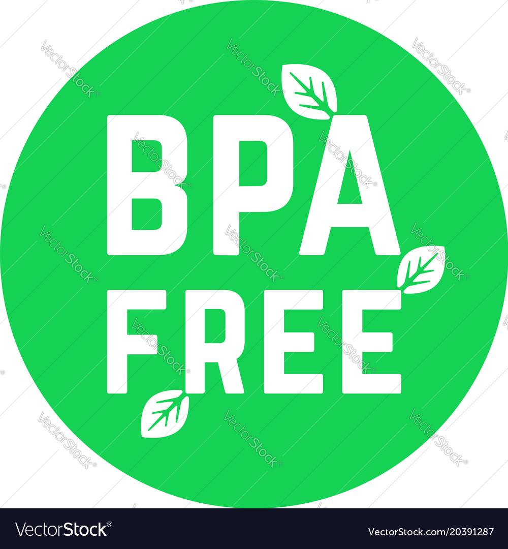 Green simple bpa free logo on white.