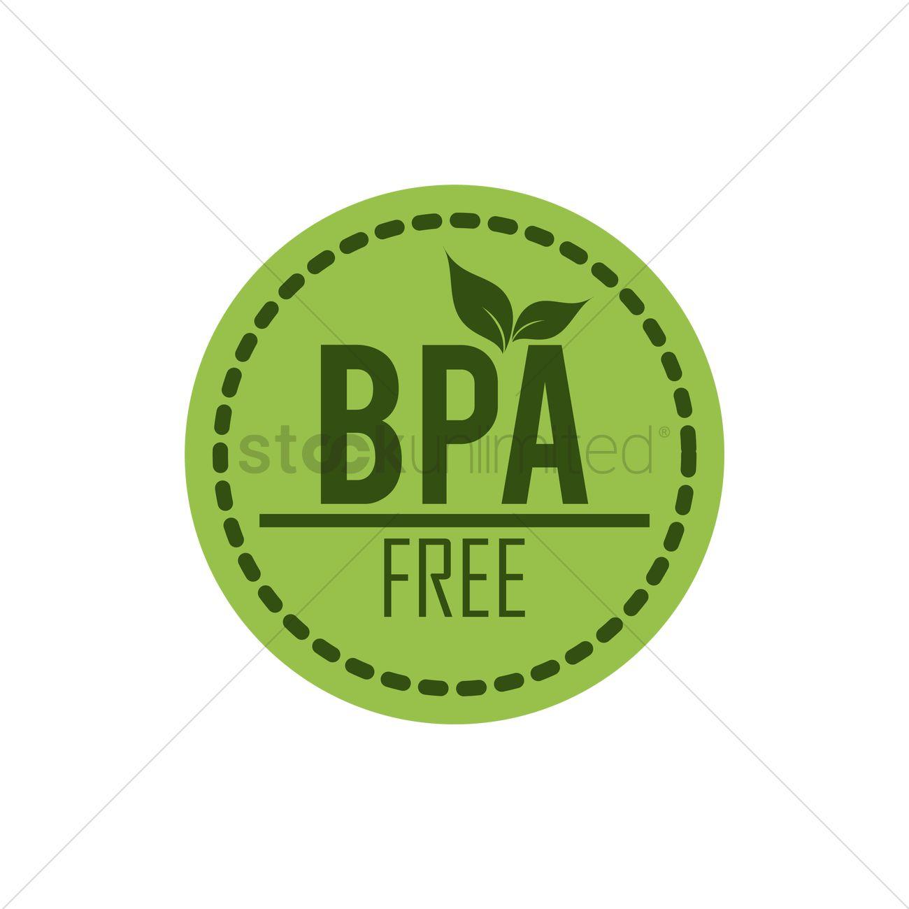 Bpa free label Vector Image.