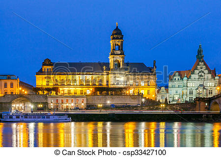 Stock Photography of Dresden. Bruhl Terrace..