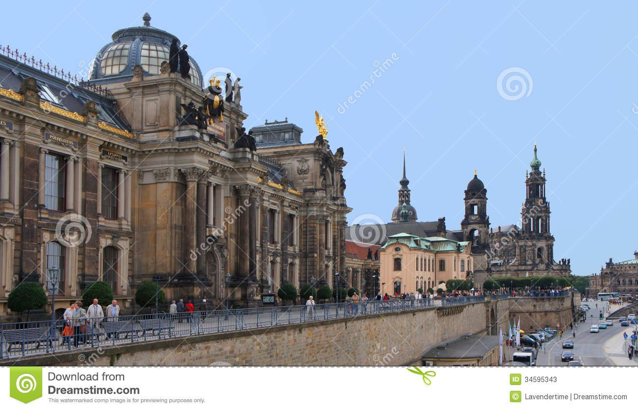 Bruhl Terrasse, Dresden Editorial Stock Photo.