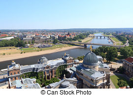 Stock Photography of Dresden. Bruhl Terrace..