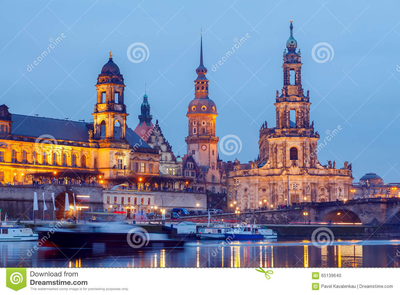 Dresden. Bruhl Terrace Stock Photo.