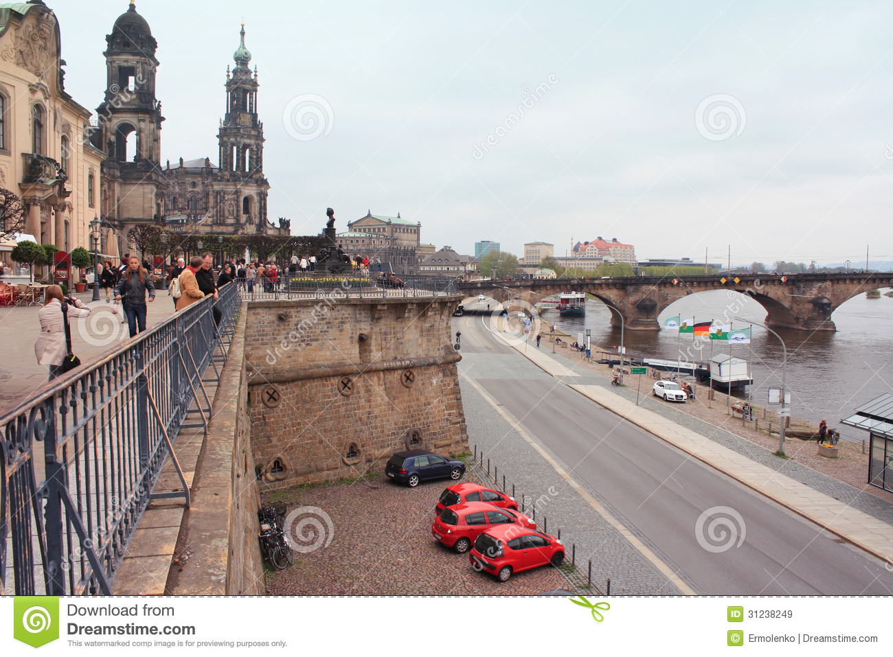 Bruhl Terrace In Dresden Editorial Stock Photo.