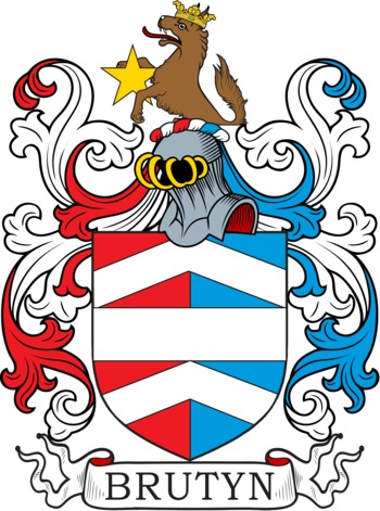 Bruton Coat of Arms Meanings and Family Crest Artwork.