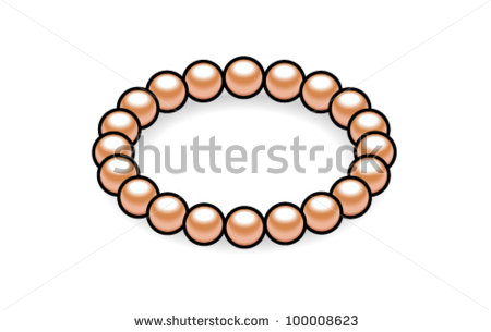 Pink Bracelet Clipart.