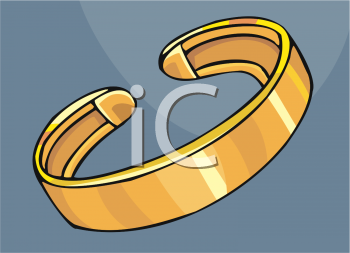 Royalty Free Clipart Image: Golden Arm Band Bracelet.