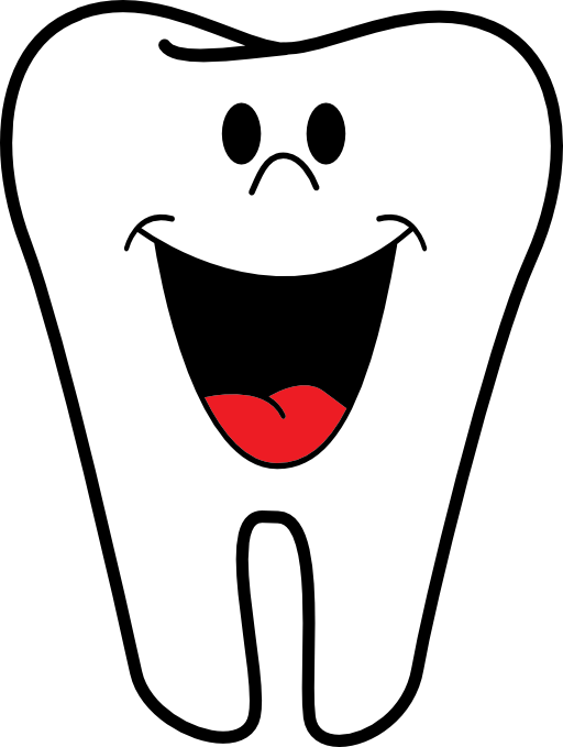 Magnet Happy Tooth Name Badge Without Braces Clipart.