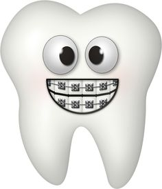 Teeth friend braces clipart.