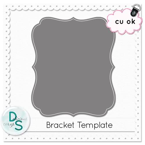 Delicious Scraps: Free Bracket Template (.PSD and .PNG).