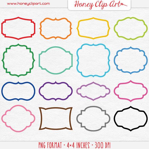 Bright Rainbow Overlay Clipart Round Bubble Frame Clip Art.