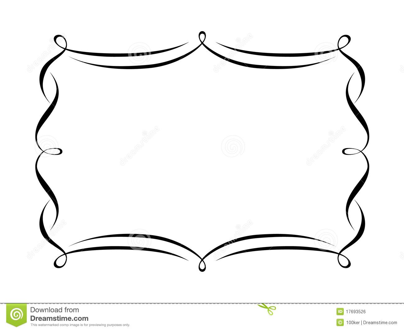 Fancy brackets clip art.