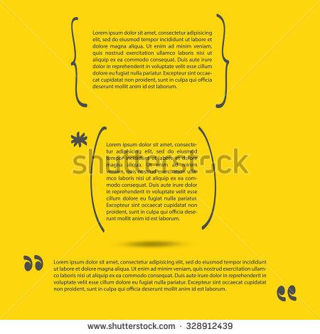Handwritten Brackets Quotes Template Vector Set Stock Vector.