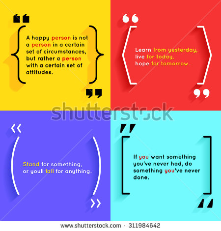 Quotes And Brackets Speech Bubbles. Short Quotes In Quotation.