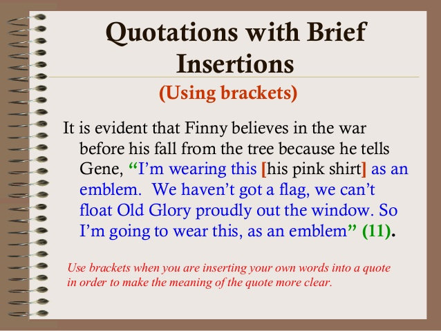 incorporating quotations into a research paper Use this method when inserting direct quotations as well as when part of writing a research-based paper in your paper than just incorporating it into the.