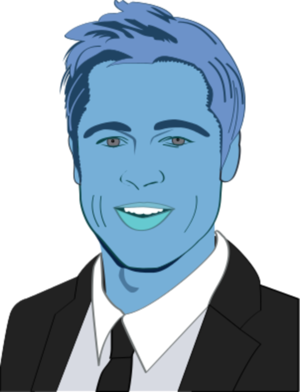 Brad Pitt Clipart.