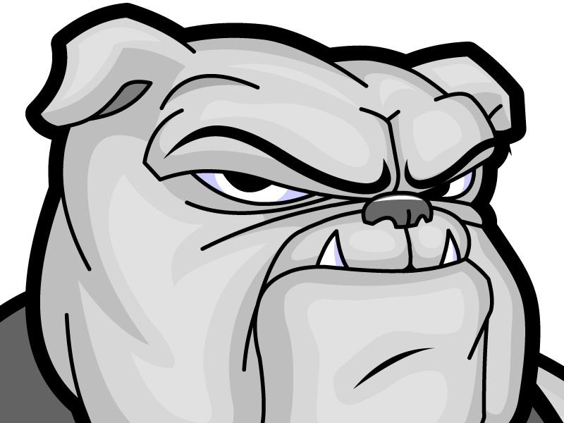 Bulldog Cartoon.