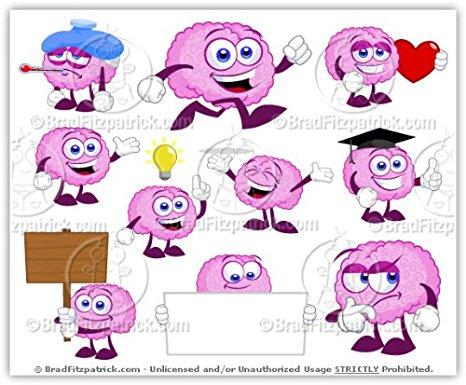 Amazon.com: Cartoon Brain Clip Art.