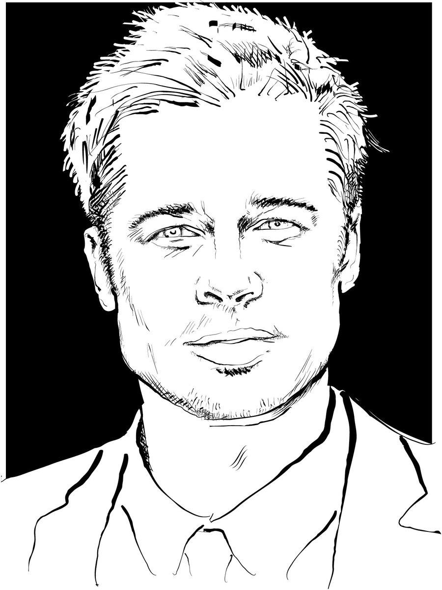 Brad Pitt Vector Portrait by Vectorportal on DeviantArt.