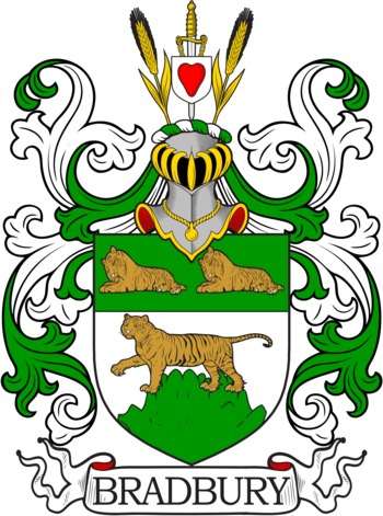Bradbury Coat of Arms Meanings and Family Crest Artwork.